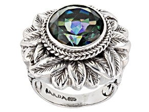 Pre-Owned Good Fortune™ Quartz Silver Ring 6.90ct