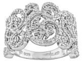 Pre-Owned Diamond Sterling Silver Filigree Ring .24ctw