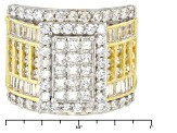 Pre-Owned Cubic Zirconia 18k Yellow Gold Over Silver Ring 5.30ctw (4.25ctw DEW)