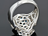 Pre-Owned Neon Apatite Sterling Silver Ring 2.65ctw