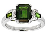 Pre-Owned Green Chrome Diopside Sterling Silver Ring 2.42ctw