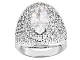 Pre-Owned Cubic Zirconia Sterling Silver Ring 7.60ctw