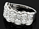 Pre-Owned Cubic Zirconia Silver Ring 5.25ctw (2.95ctw DEW)
