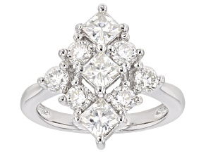 Pre-Owned Moissanite Platineve Ring 2.01ctw D.E.W
