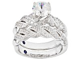 Pre-Owned Cubic Zirconia Platineve Ring With Band 2.93ctw (1.84ctw DEW)