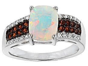 Pre-Owned Ethiopian Opal Sterling Silver Ring 1.29ctw