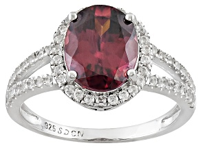 Pre-Owned Red Zircon Sterling Silver Ring 4.29ctw