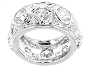 Pre-Owned Cubic Zirconia Sterling Silver Ring 6.79ctw