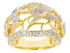 Pre-Owned Cubic Zirconia 18k Yellow Gold Over Silver Ring .76ctw