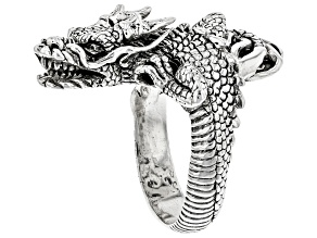 Pre-Owned Sterling Silver Dragon Ring