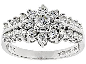 Pre-Owned White Lab-Grown Diamond 14K White Gold Ring 1.00ctw
