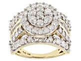 Pre-Owned White Diamond 10k Yellow Gold Ring 2.95ctw