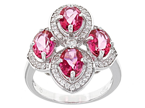 Pre-Owned Pink Danburite Sterling Silver Ring 4.00ctw