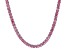 Pre-Owned Bella Luce® 30.81ctw Pink Diamond Simulant Rhodium Over Silver Tennis Necklace