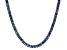 Pre-Owned Bella Luce® 30.81ctw Tanzanite Simulant Rhodium Over Silver Tennis Necklace