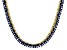 Pre-Owned Bella Luce® 30.81ctw Princess Tanzanite Simulant 18k Gold Over Silver Necklace