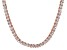 Pre-Owned Bella Luce® 30.81ctw Princess Diamond Simulant 18k Gold Over Silver Necklace