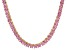 Pre-Owned Bella Luce® 30.81ctw Pink Diamond Simulant 18k Gold Over Silver Necklace