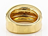 Pre-Owned Moda Al Massimo® 18K Yellow Gold Over Bronze Wide Polished Etched Band