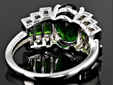 Pre-Owned Green Chrome Diopside Sterling Silver Ring 2.80ctw