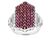 Pre-Owned Mahaleo Ruby And White Topaz Sterling Silver Ring 4.91ctw.