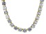 Pre-Owned Bella Luce® 126.64ctw Round Diamond Simulant 18k Gold Over Silver Necklace