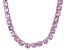 Pre-Owned Bella Luce® 126.64ctw Round Pink Diamond Simulant Rhodium Over Silver Necklace