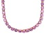 Pre-Owned Bella Luce® 126.64ctw Pink Diamond Simulant 18k Rose Gold Over Silver Necklace