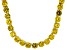Pre-Owned Bella Luce® 126.64ctw Yellow Diamond Simulant 18k Gold Over Silver Necklace