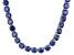 Pre-Owned Bella Luce® 126.64ctw Tanzanite Simulant Rhodium Over Silver Tennis Necklace