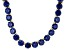 Pre-Owned Bella Luce® 126.64ctw Round Tanzanite Simulant 18k Gold Over Silver Necklace