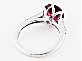 Pre-Owned Red Lab Created Bixbite Sterling Silver Ring 2.21ctw