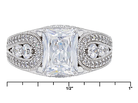 Pre-Owned Cubic Zirconia Platineve Ring 5.62ctw