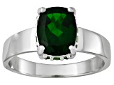 Pre-Owned Chrome Diopside And Tsavorite Garnet Sterling Silver Ring