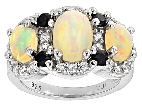 Pre-Owned Ethiopian Opal Sterling Silver Ring 2.49ctw