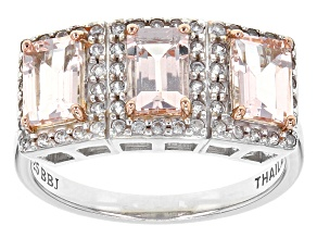Pre-Owned Pink Morganite Sterling Silver Ring 1.59ctw