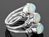 Pre-Owned Ethiopian Opal Sterling Silver Ring. 1.76ctw