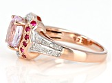 Pre-Owned Pink Kunzite 18k Rose Gold Over Sterling Silver Ring 2.32ctw
