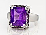 Pre-Owned Purple Amethyst Sterling Silver Ring 5.60ctw