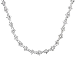Pre-Owned White Diamond 10k White Gold Necklace 2.00ctw