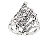 Pre-Owned Cubic Zirconia Silver Ring 1.96ctw (1.31ctw DEW)