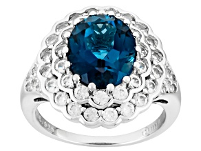 Pre-Owned London Blue Topaz Sterling Silver Ring 5.71ctw
