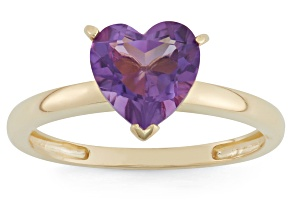 Pre-Owned Amethyst 10kt Yellow Gold Solitaire Ring 1.71ct