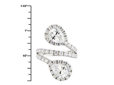 Pre-Owned White Cubic Zirconia Rhodium Over Silver Ring 8.12ctw