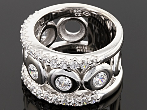 Pre-Owned White Cubic Zirconia Sterling Silver Ring 3.69ctw