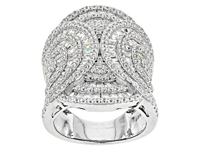 Pre-Owned Cubic Zirconia Silver Ring 6.84ctw (3.33ctw DEW)