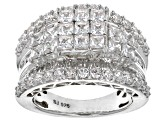 Pre-Owned Cubic Zirconia Platineve Ring 6.45ctw