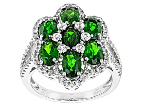 Pre-Owned Green Chrome Diopside Sterling Silver Ring 4.43ctw