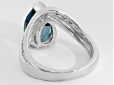 Pre-Owned Barehipani Topaz ™ 3.26ct With .15ctw Champagne Diamond Sterling Silver Ring