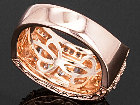 Pre-Owned White Cubic Zirconia 18k Rose Gold Over Silver Band Ring 3.47ctw